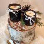 Świeczki z ekologicznego wosku sojowego w świątecznym wydaniu